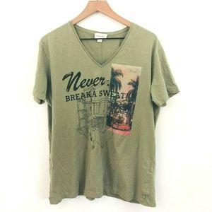 Diesel Never Break a Sweat V-Neck Graphic Tee